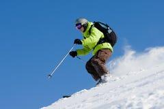 freeride с катания на лыжах piste Стоковые Фотографии RF