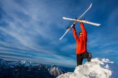 Freeride лыжи стоковые изображения rf