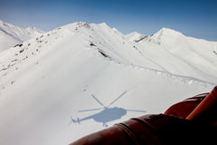 Freeride auf Kamchatka Stockbild