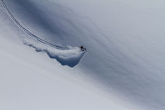 Freeride auf Kamchatka Stockfotos