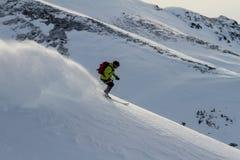 Freeride auf Kamchatka Lizenzfreie Stockfotografie