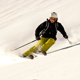 Freeride in Caucasus mountains Stock Photography