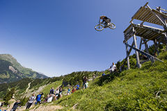 Freeride competition Royalty Free Stock Images