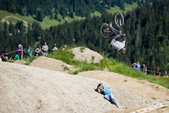 Freeride competition Royalty Free Stock Photo