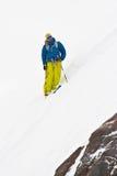 Freeride in de bergen van de Kaukasus Stock Fotografie