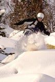 Freeride do Snowboard em Sibéria Foto de Stock