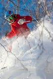 Freeride em Sibéria foto de stock