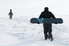 Freeride en snowboard Foto de archivo libre de regalías