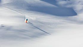 Freeride in fresh powder snow. Royalty Free Stock Image