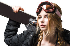 Freeride girl portrait Royalty Free Stock Images