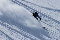 Freeride on  Kamchatka Stock Photography
