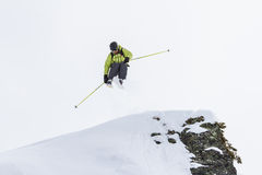 Freeride on  Kamchatka Stock Image