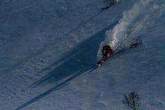 Freeride on  Kamchatka Stock Images