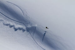 Freeride on  Kamchatka Royalty Free Stock Image