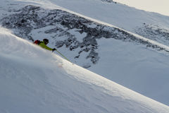 Freeride on  Kamchatka Royalty Free Stock Photos