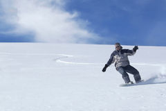 freeride mężczyzna jazda na snowboardzie Fotografia Royalty Free