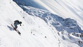 freeride narciarka Zdjęcie Royalty Free