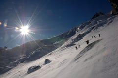 Freeride near Mont Blanc Royalty Free Stock Image