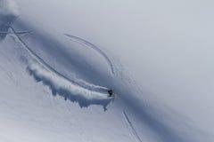 Freeride op Kamchatka Stock Foto's
