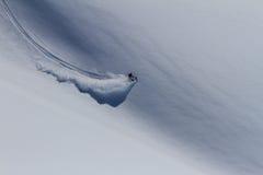 Freeride på Kamchatka Arkivfoton