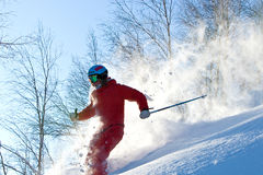 Freeride in Siberia Royalty Free Stock Images