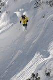 Freeride skidar Arkivfoton