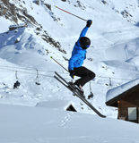 Freeride skier stock photo