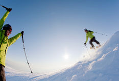 Freeride skier Stock Images
