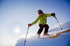 Freeride Skier Royalty Free Stock Image