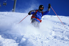 Freeride skier 2 stock photos