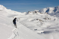 Freeride skier Royalty Free Stock Photography