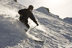 Freeride skier Royalty Free Stock Images
