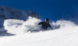 Freeride Skifahren Lizenzfreie Stockfotografie