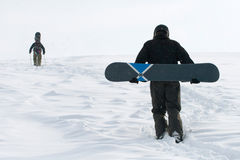 Freeride on snowboard Royalty Free Stock Photo