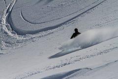 Freeride su Kamchatka Immagini Stock Libere da Diritti