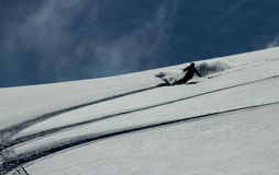 Freeride sur le Kamtchatka Photographie stock
