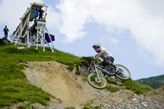Freeride-Wettbewerb Stockfotos