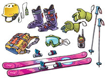Freeridemateriaal van Backcountry voor de skiërs Royalty-vrije Stock Fotografie