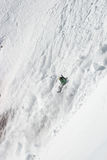 Freerider in a avalanche. Caucasus mountains Stock Images