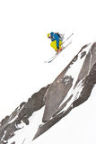Freerider jumping in a mountains. Winter Stock Image