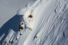 Freerider narciarscy skłony Zdjęcie Royalty Free