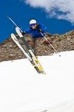 Freerider, saltando nell'le montagne Fotografie Stock