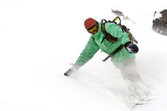 Freerider on the slope. Caucasus mountains Stock Image