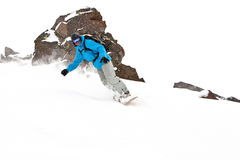 Freerider on the slope. Free rider on the slope Stock Images