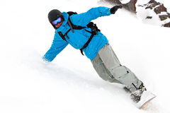 Freerider on the slope. Free rider on the slope Stock Photography