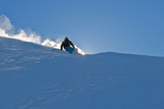 Freerider and snow powder Stock Photos