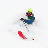 Freerider in a snow powder Stock Image