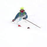 Freerider in a snow powder Royalty Free Stock Image
