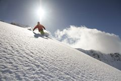Freerider Snowboard Royaltyfria Bilder
