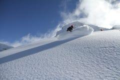 Freerider Snowboard Arkivfoton